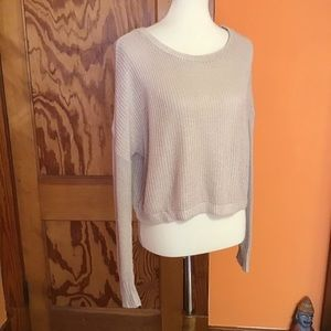 Urban outfitters cable knit beachy cropped sweater